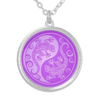 Geckos púrpuras de Yin Yang Colgante