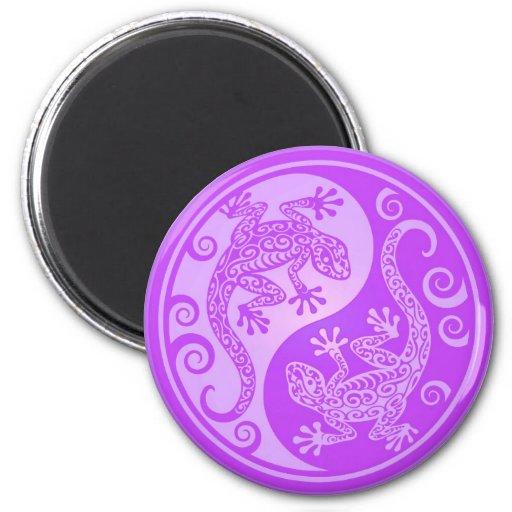 Geckos púrpuras de Yin Yang Iman