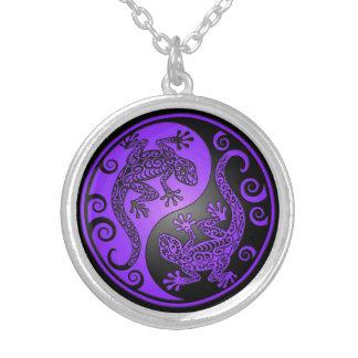 Geckos púrpuras y negros de Yin Yang Joyerías