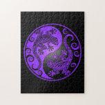 Geckos púrpuras y negros de Yin Yang Puzzles Con Fotos