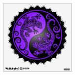 Geckos púrpuras y negros de Yin Yang Vinilo