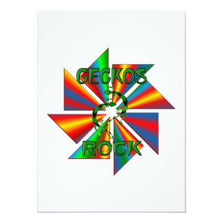 Geckos Rock Invitation Card