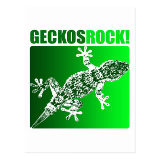 Geckos Rock! Postcard