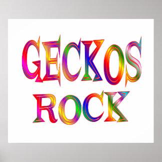 Geckos Rock Poster