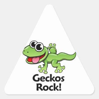 Geckos Rock! Triangle Sticker