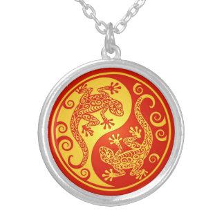 Geckos rojos y amarillos de Yin Yang Grimpola