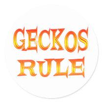 Geckos Rule Classic Round Sticker