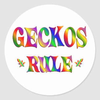 GECKOS RULE CLASSIC ROUND STICKER