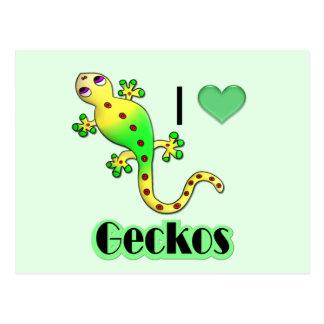 geckos tarjetas postales