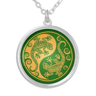 Geckos verdes y amarillos de Yin Yang Joyerias Personalizadas