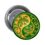 Geckos verdes y amarillos de Yin Yang Pin