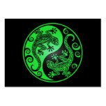 Geckos verdes y negros de Yin Yang Plantillas De Tarjetas Personales