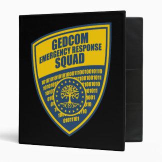 GEDCOM Emergency Response Squad 3 Ring Binder