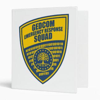 GEDCOM Emergency Response Squad 3 Ring Binders