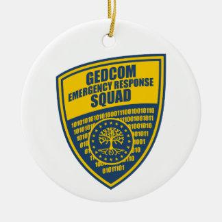GEDCOM Emergency Response Squad Ceramic Ornament