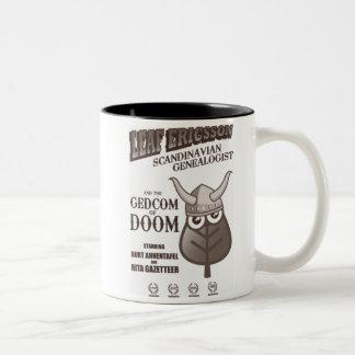 GEDCOM of DOOM (Sepia) Two-Tone Coffee Mug