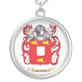Geddis Coat of Arms (Family Crest) Silver Plated Necklace