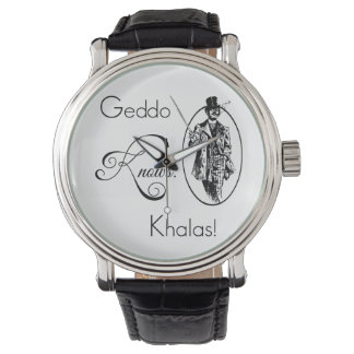 Geddo sabe. ¡Khalas! Relojes De Mano