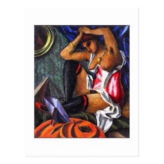 Ģederts Eliass, Realism Art, By the Mirror 1918 Postcard