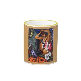 Ģederts Eliass, Realism Art, By the Mirror 1918 Ringer Coffee Mug