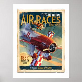 Gee Bee Race Program Poster