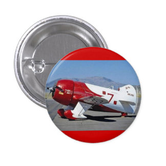 gee bee racer red pinback button