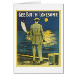 Gee But I'm Lonesome Vintage Songbook Cover Card