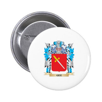 Gee Coat of Arms - Family Crest Pinback Button
