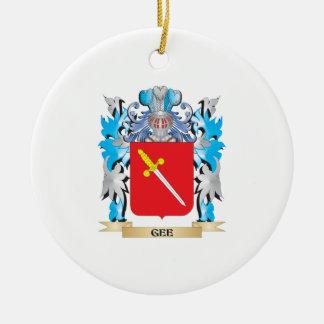 Gee escudo de armas - escudo de la familia adorno de navidad