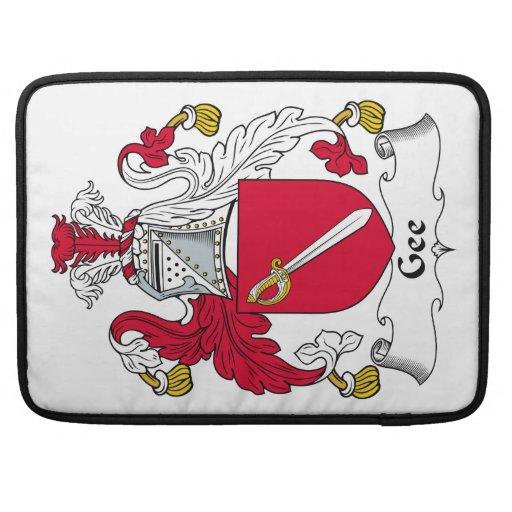 Gee escudo de la familia funda para macbook pro