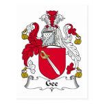 Gee escudo de la familia postal