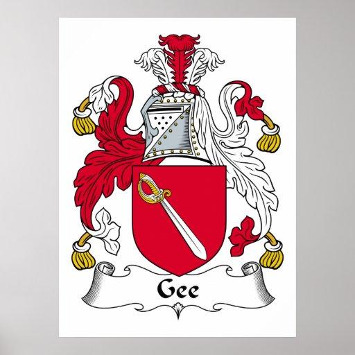 Gee escudo de la familia poster