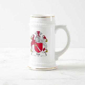 Gee escudo de la familia tazas de café