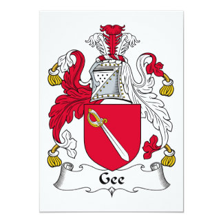 Gee Family Crest Personalized Invites