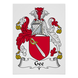 Gee Family Crest Poster