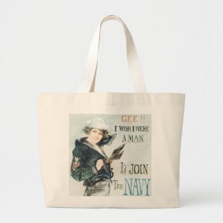 Gee!! I Wish I were a Man Large Tote Bag
