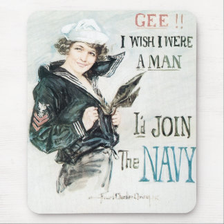 Gee! I Wish I Were a Man Mouse Pad