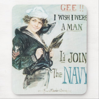 Gee!! I Wish I were a Man Mouse Pad