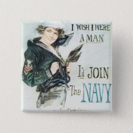 Gee!! I Wish I were a Man Pinback Button