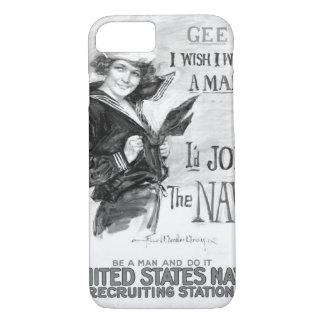 Gee!! I Wish I Were A Man _War Image iPhone 8/7 Case