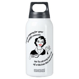 Gee, thanks...  but no thanks. SIGG thermo 0.3L insulated bottle