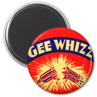 Gee Whizz Vintage Firecrackers Fireworks Graphics Refrigerator Magnets