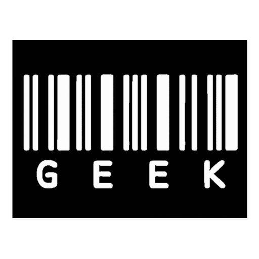 Geek Barcode Post Cards