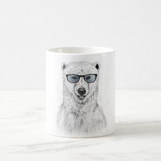 Geek bear (blue) coffee mug