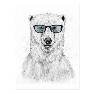 Geek bear (blue) postcard