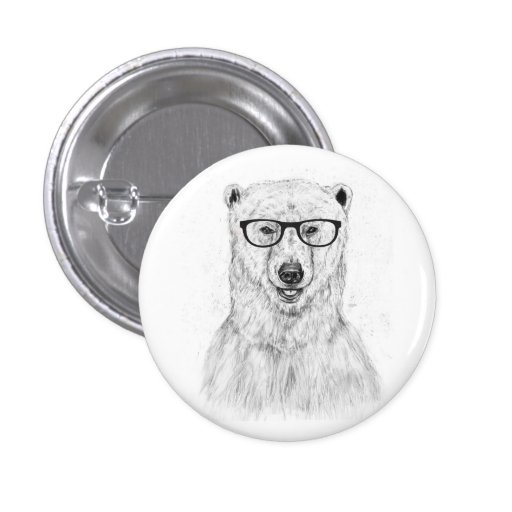 Geek bear pinback buttons
