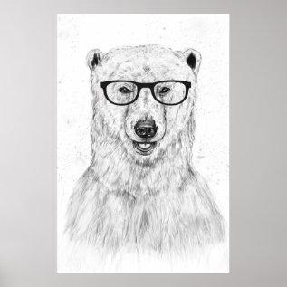 Geek Bear Poster at Zazzle