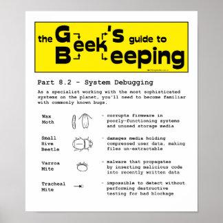 Geek Beekeeping (Debugging) - 12 x 14 Poster