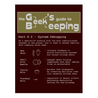 Geek Beekeeping Debugging - Postcard