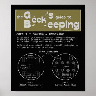 Geek Beekeeping (Networks) - 12 x 14 Poster